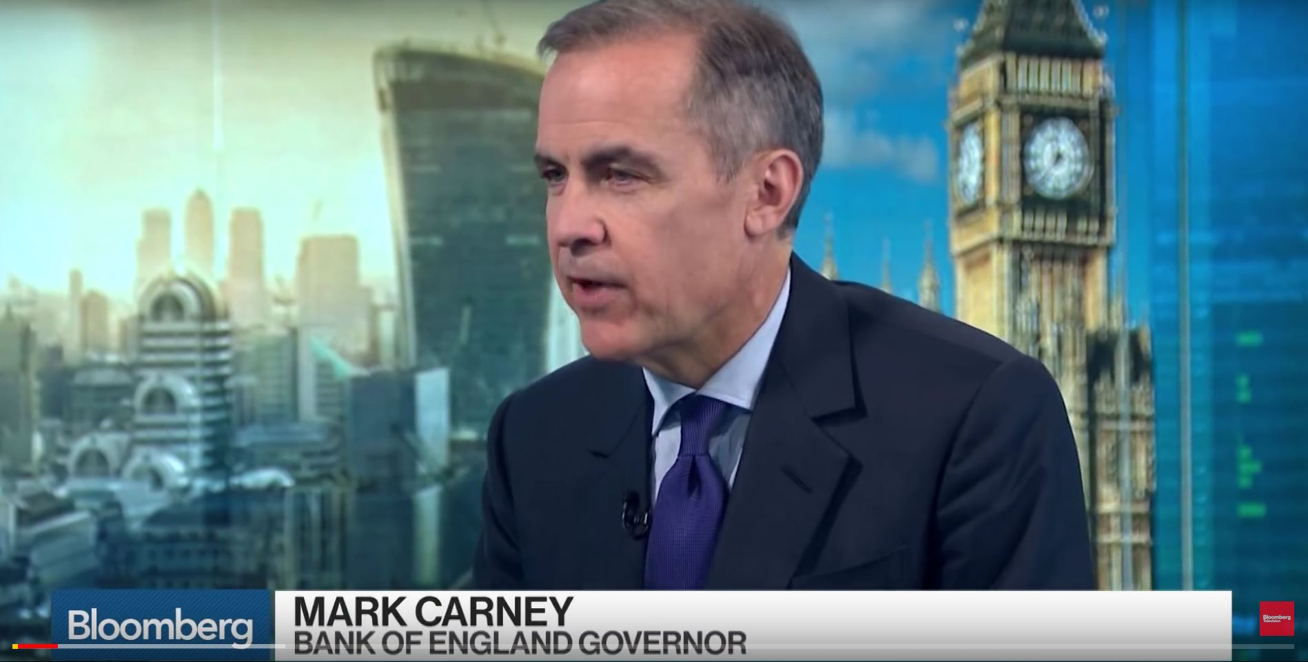 Bloomberg interviews Mark Carney from Bank of England